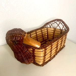 Wicker Duck Basket